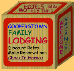 Cooperstown New York Lodging and Hotels