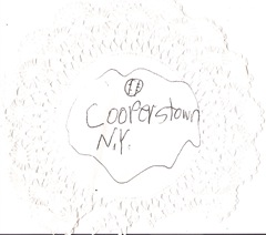 Cooperstown NY napkin graphic