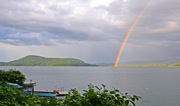 Cooperstown Otsego Lake rainbow photo